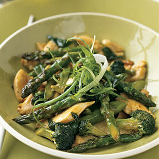 Chicken, Asparagus, and Broccoli Stir-Fry.