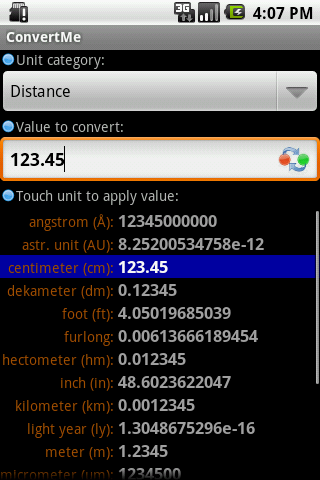Convert Units - screenshot