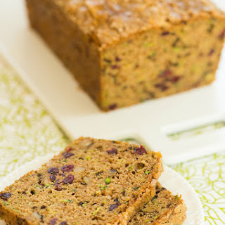 Spiced Zucchini Bread with Walnuts and Dried Cranberries