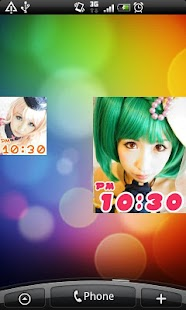 Cosplay LWP 10 +clock widget - screenshot thumbnail