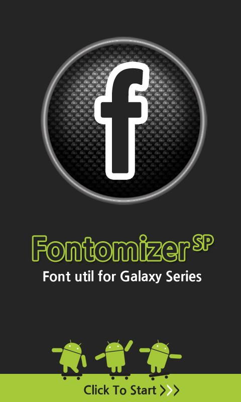 Fontomizer SP(Font for Galaxy) - screenshot