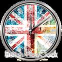 イギリス国旗の時計ウィジェット