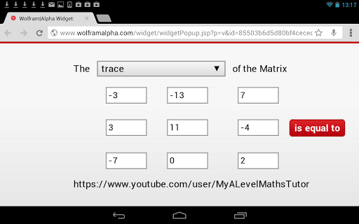 Matrix Trace Calculator