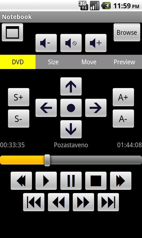 MPC-HC Remote Control PRO- screenshot