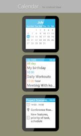 Calendar for Android Wear Screenshot 1
