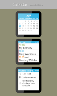 Calendar for Android Wear Screenshot 1