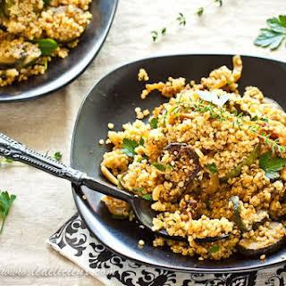 Quinoa with Zucchini and Onions.