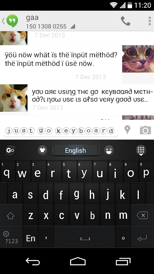 GO Keyboard Fantasy Fonts,Text- screenshot