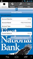 Screenshot of First National Bank of Walker