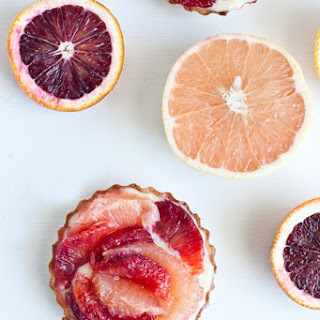 Citrus Tart: Grapefruit and Blood Orange Tart with Lemon Cream.