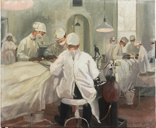 The Queen's Hospital for Facial Injuries, Frognal, Sidcup : the operating theatre