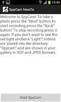 Screenshot of Spycam Free