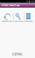 Screenshot of UPMC MedTrak