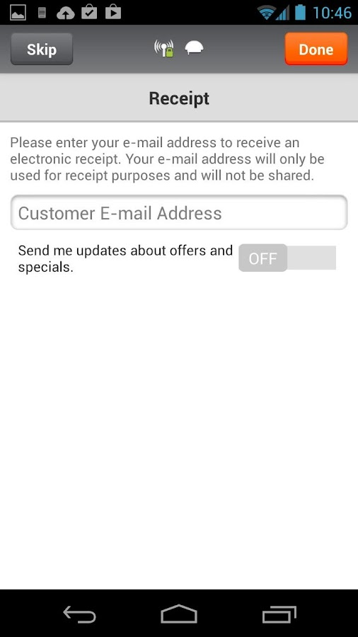 Sage Mobile Payments- screenshot