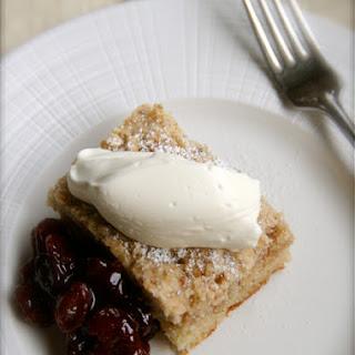 Lemon Anise and Cardamom cake with Balsamic Sour Cherry Sauce
