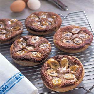 Walnut Frangipane and Banana Tartlets
