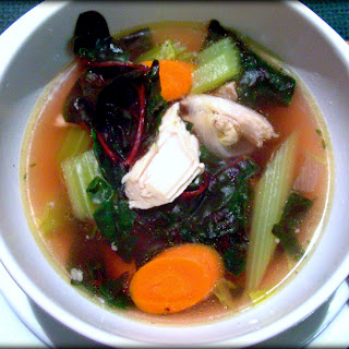 Turkey Vegetable Soup with Swiss Chard