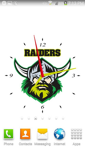Canberra Raiders Analog Clock