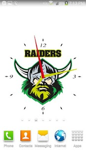 Canberra Raiders Analog Clock- screenshot thumbnail