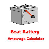 Boat Battery Amps Calculator