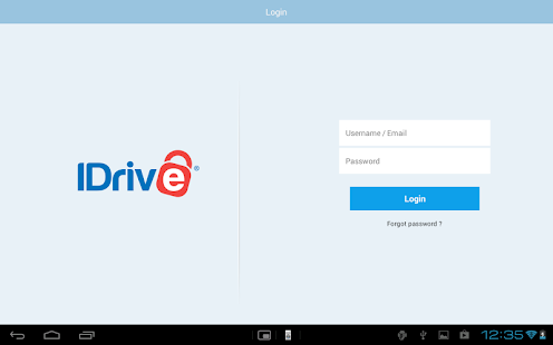 IDrive Online Backup- screenshot thumbnail