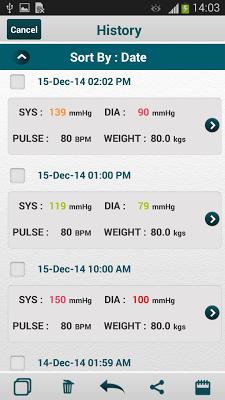 Blood Pressure (SmartBP) - screenshot