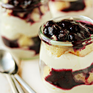 Blueberry Trifles with Mascarpone Whip