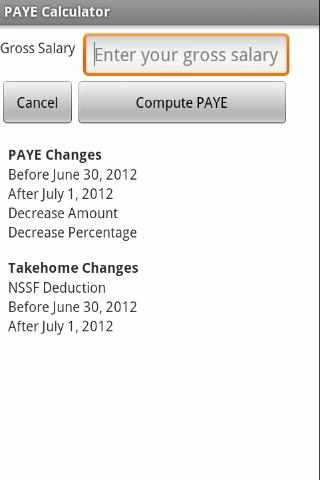 Uganda PAYE Calculator- screenshot