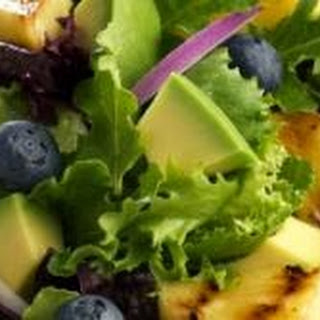 Grilled Pineapple Avocado Blueberry Salad