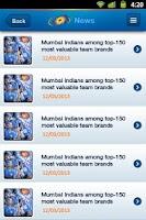 Screenshot of Mumbai Indians