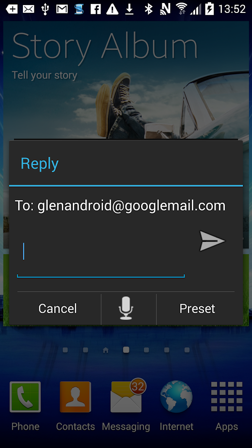 Email Popup: Poppy IMAP  POP3- screenshot