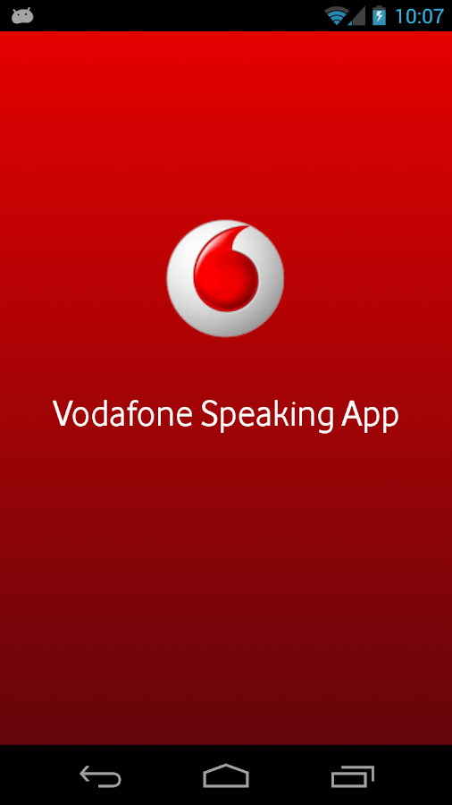 Vodafone Speaking App - screenshot