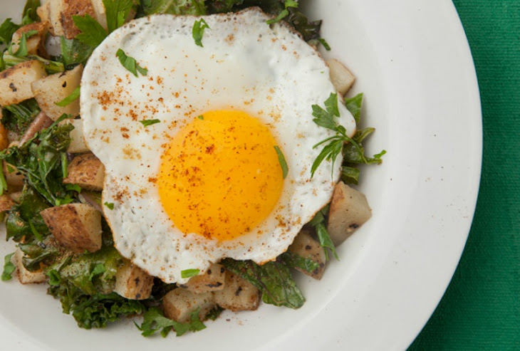 Kale and Potato Hash with Fried Egg Recipe