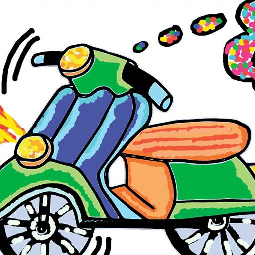 摩托车着色 教育 LOGO-玩APPs