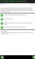Screenshot of PMP 1000 Sample Questions