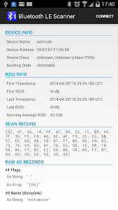 Bluetooth LE Scanner screenshot 1