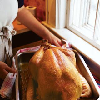 Thanksgiving Roast Turkey with Corn Bread Dressing Recipe