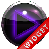 Poweramp Widget Purple Glow