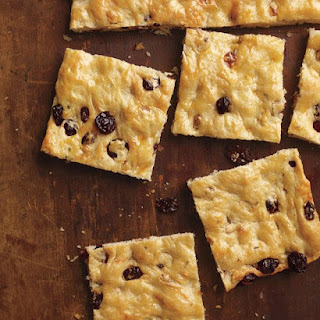 Focaccia with Dried Fruit and Rosemary.