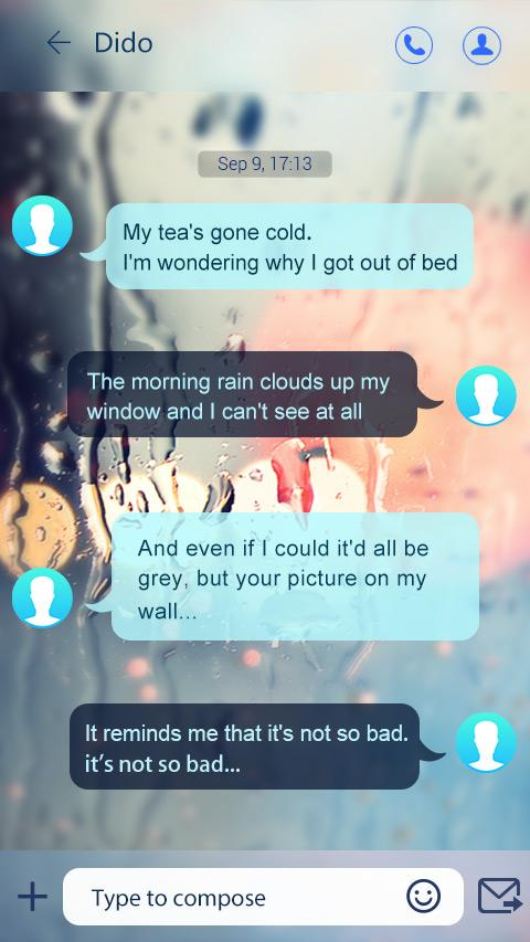 GO SMS PRO GLASS II THEME- screenshot