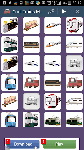 Toddlers Trains Memory Game