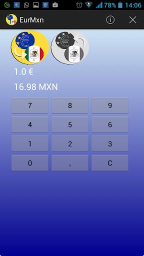Peso Euro converter MXN EUR