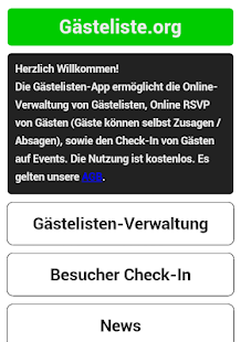 Gästeliste.org- screenshot thumbnail