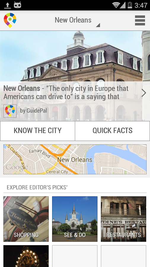 New Orleans City Guide- screenshot