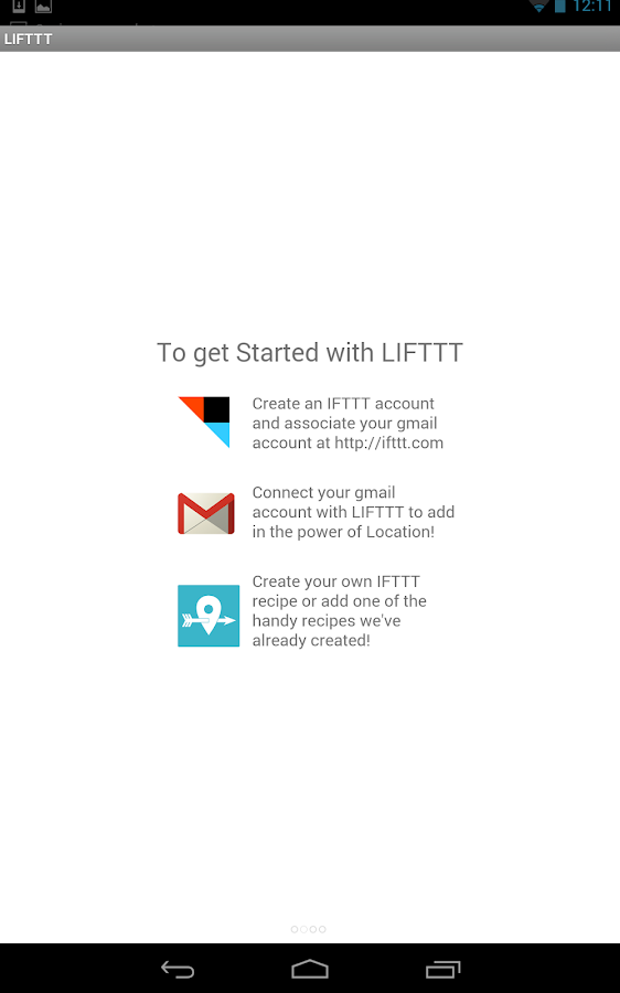 LIFTTT - Location for IFTTT - screenshot