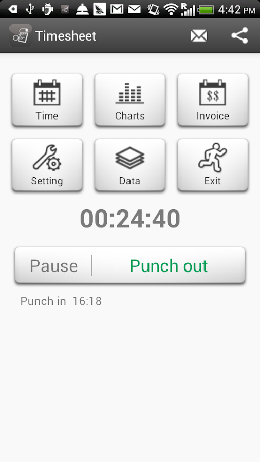 Timesheet (Paid)- screenshot