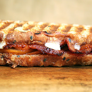 Bacon, Cheddar and Pear Panini.