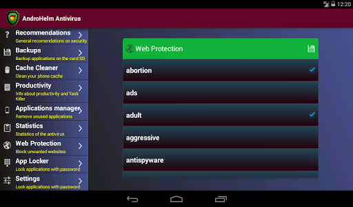 Antivirus - Android v2.2