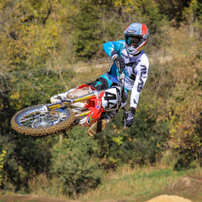 Laying it Down by Kenton Knutson - Sports & Fitness Motorsports ( motocross, jumping, motorcycle, mx, whip, dirt,  )