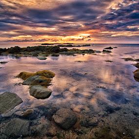 Cloud reflections by Eris Suhendra - Landscapes Sunsets & Sunrises ( west borneo, sunsets, cloud, nikon, landscapes,  )